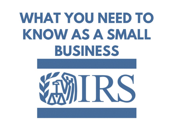 SCORE Webinar: IRS: What You Need to Know As a Small Business